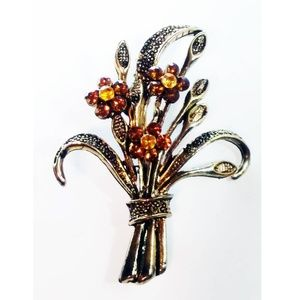 Vintage Bouquet of Flowers Pin Brooch